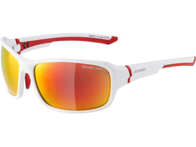 Alpina Lyron Glasses white matt-red